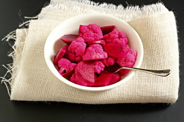 Pickled Cauliflower and Beets
