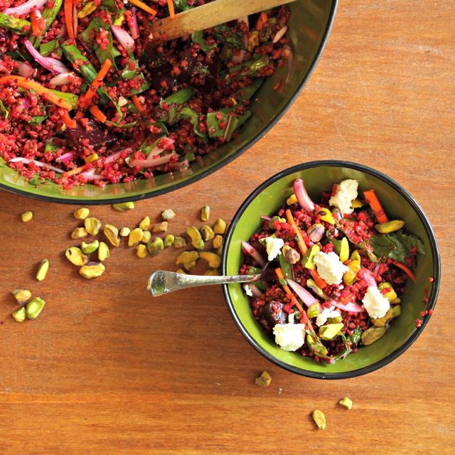 Red quinoa and beet salad with goat cheese and pistachios what jew red quinoa and beet salad with goat cheese and pistachios forumfinder Images