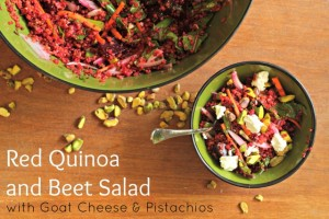 Red Quinoa and Beet Salad With Goat Cheese and Pistachios