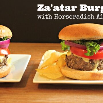 Grilled Za'atar Burger with Horseradish Aioli