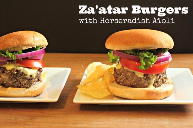 Grilled Za'atar Burger with Horseradish Aioli
